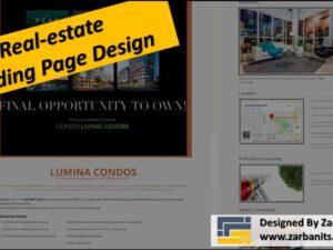 Real estate Landing Page Design Lumina