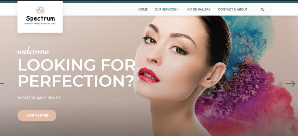 Web design for beauty clinic, Toronto, ON