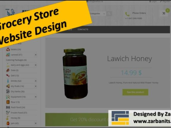 Grocery store webdesign Toronto
