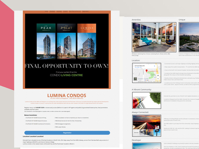 Landing Page Development For Real Estate, Toronto