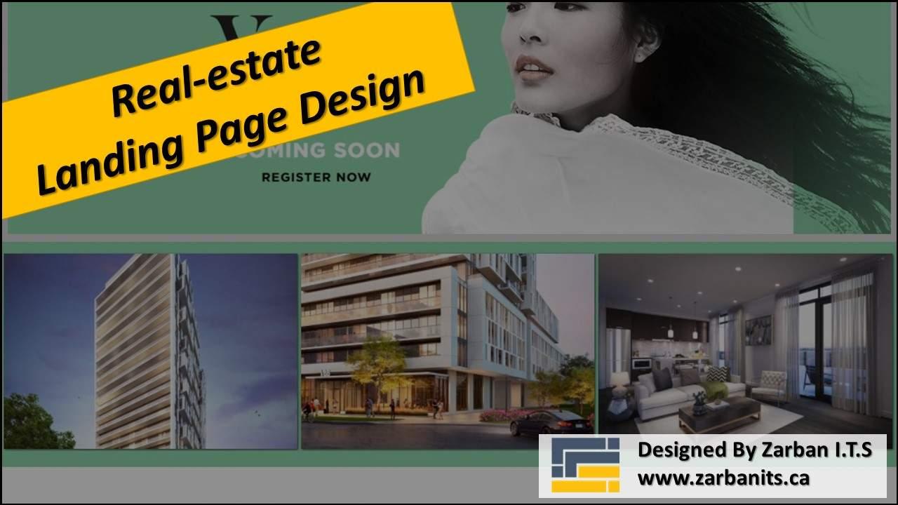 Real Estate Landing Page Design in Toronto