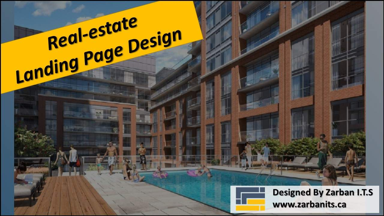 Real estate Landing Page design Vaughan