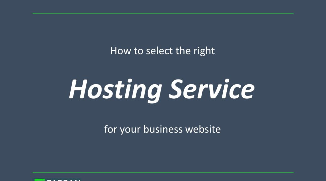 How to select a Hosting for your website