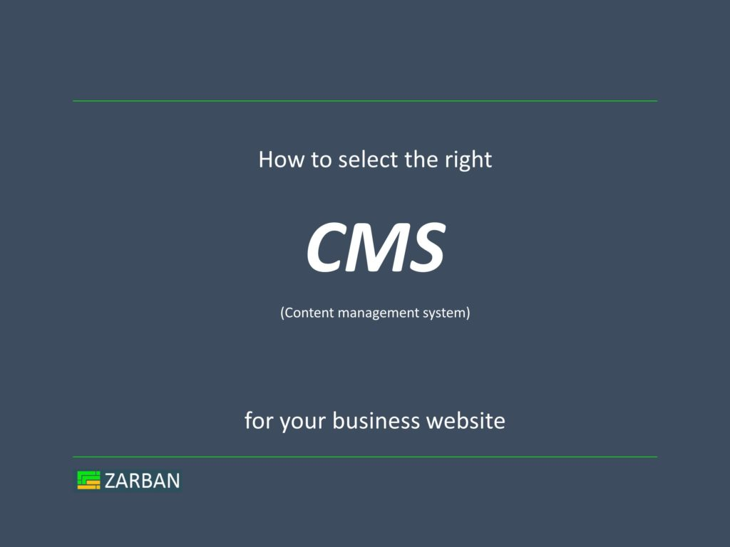 How to select a CMS for your business website