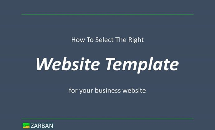 Website template, how to select the right one for a website?