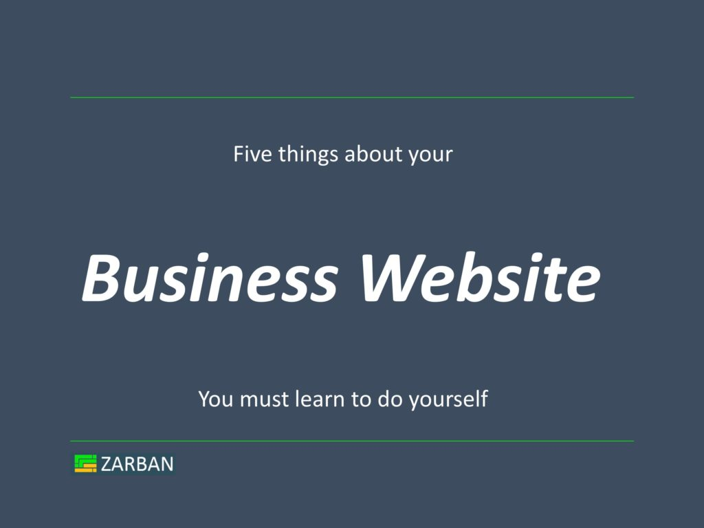 Five things you must do for your business website