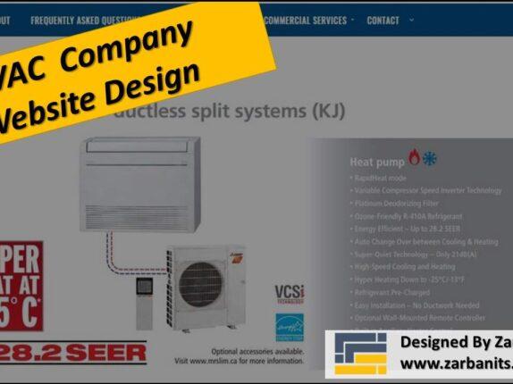 HVAC Company Website Design Toronto