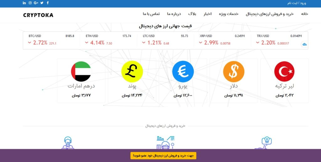 Website Design For Currency Exchange Office