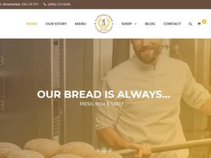 Website Design For Bakery in Toronto