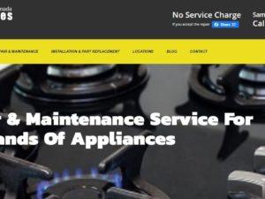 Website Design For Appliance Repair, Toronto