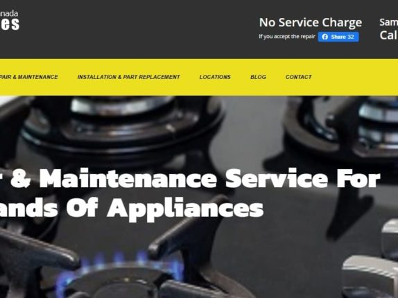 Website Design For Appliance Repair, Toronto