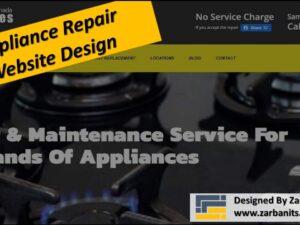 Appliance Repair Web Design Toronto