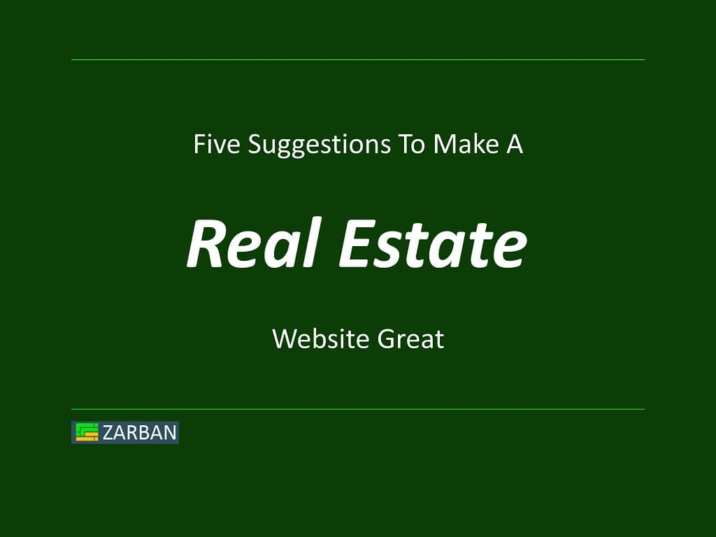 Five suggestions to make a Toronto real estate website great