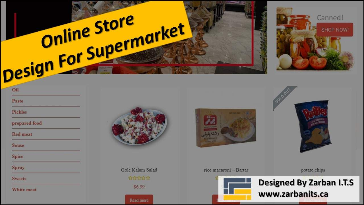 Online Store Design For Supermarket in Richmond Hill