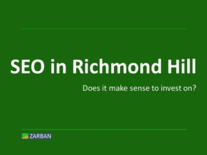 SEO in Richmond Hill, ON