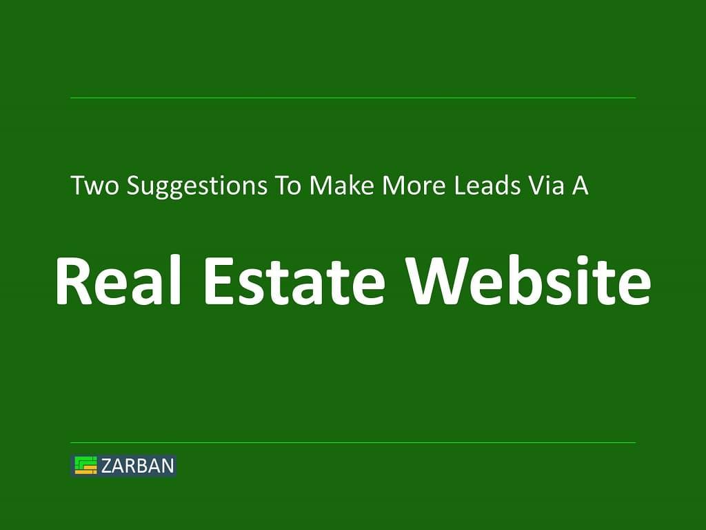 Real Estate Website Design and Lead Generation
