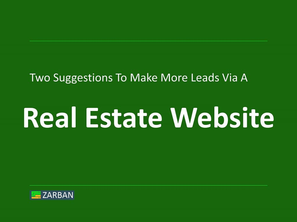 Real Estate Website Design and Lead Generation