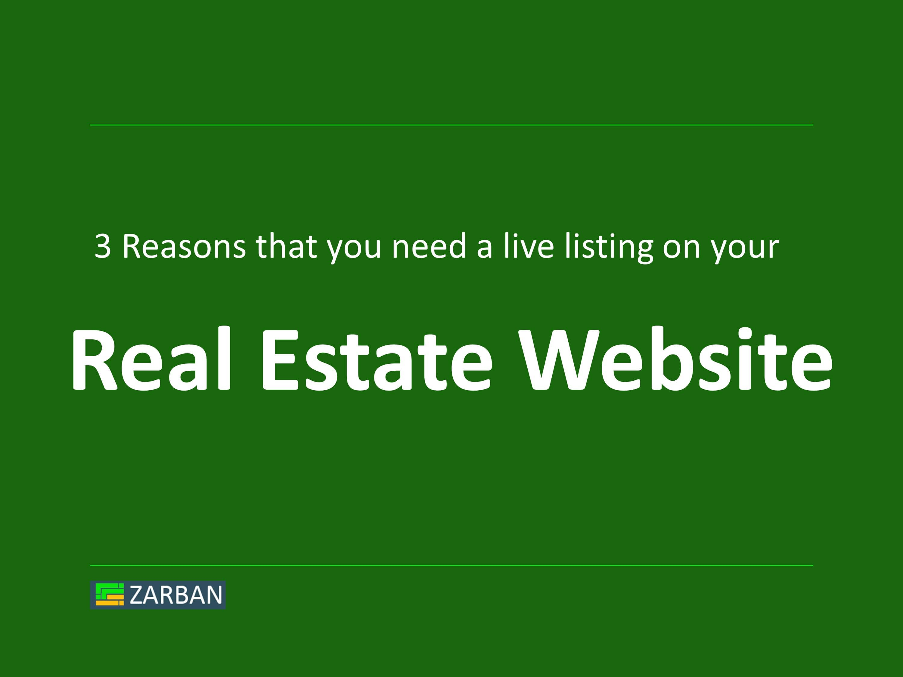 Real Estate Website Design, Why Do You Need Live Listings?