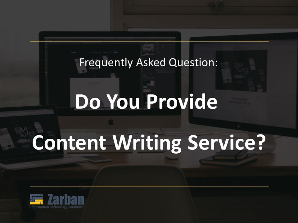 Do you provide Content writing service?