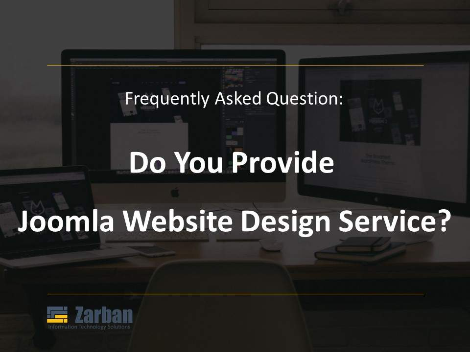 Do you provide Joomla Website design service