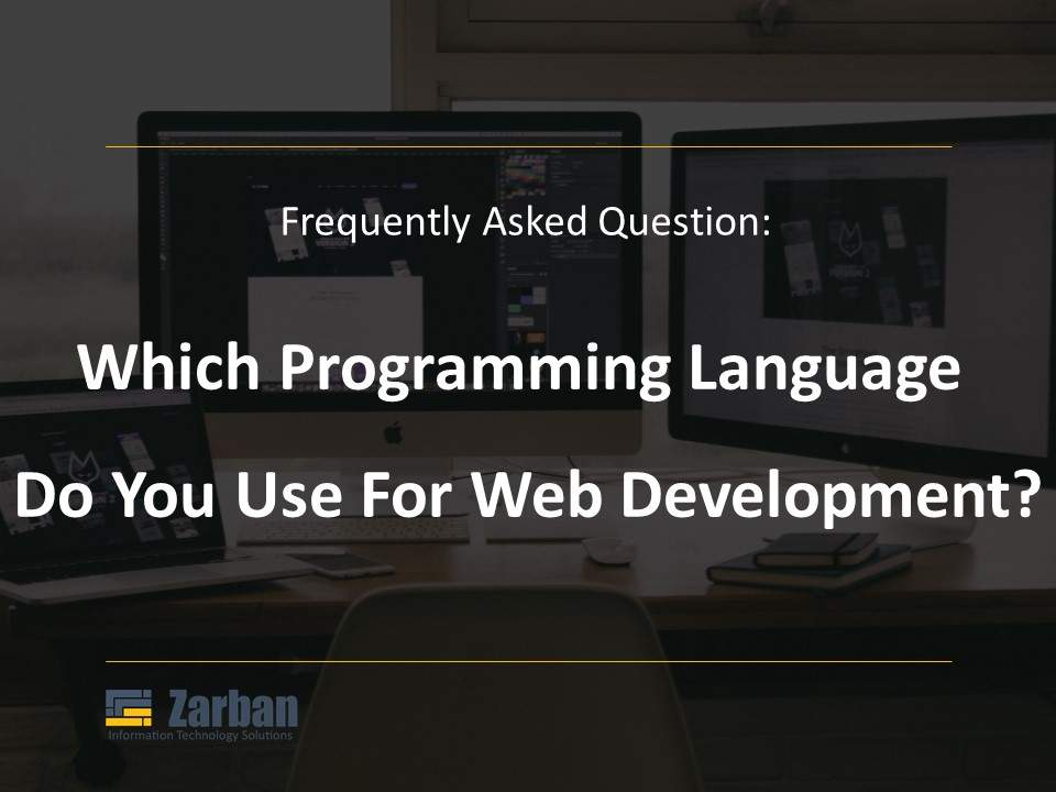 Which programming language do you use for web development projects