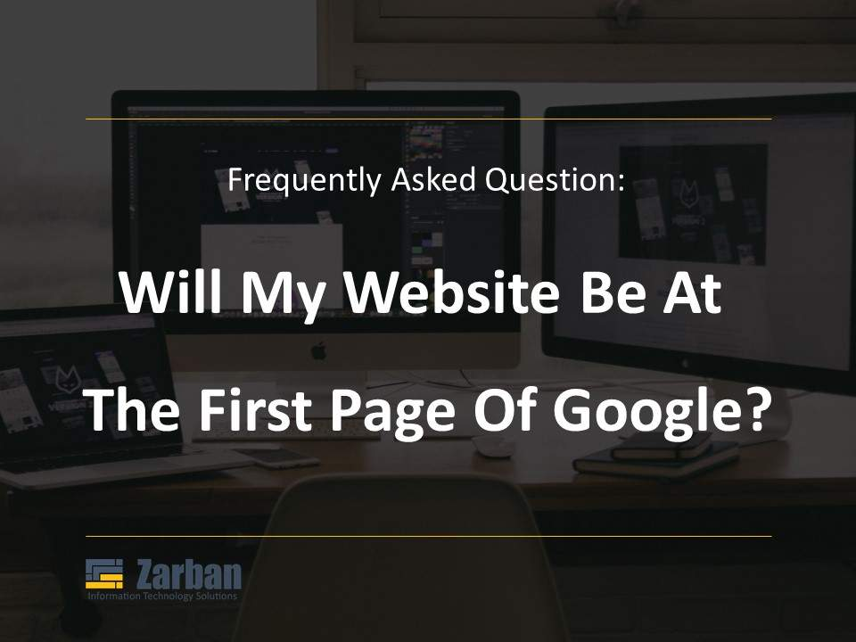 Will my website be at the first page of Google