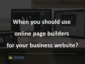 When you can use online page builders in Richmond Hill,ON