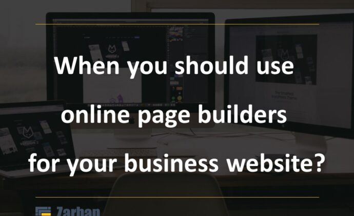 When you can use online page builders?