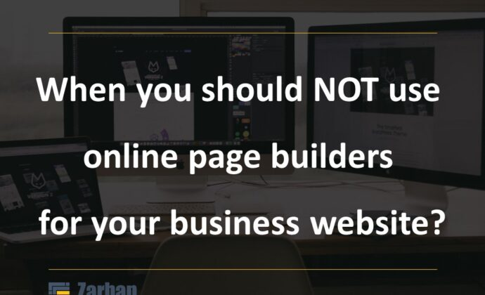 When you should NOT use online website builders?