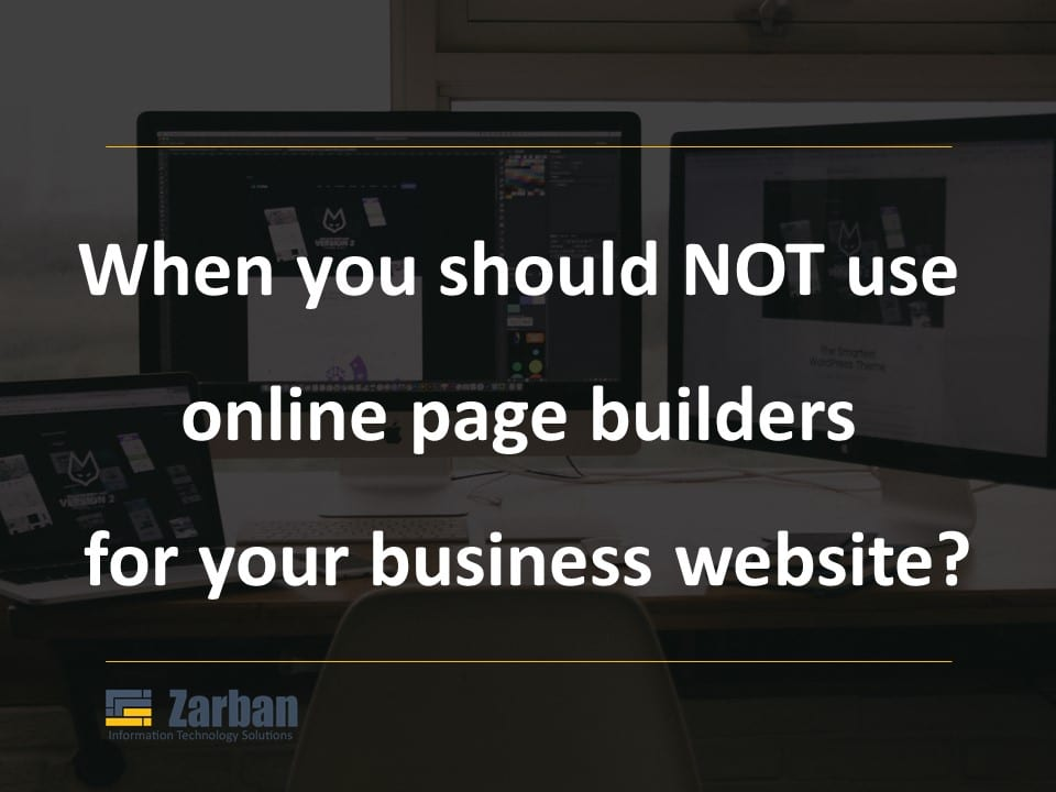 When you should NOT use online website builder