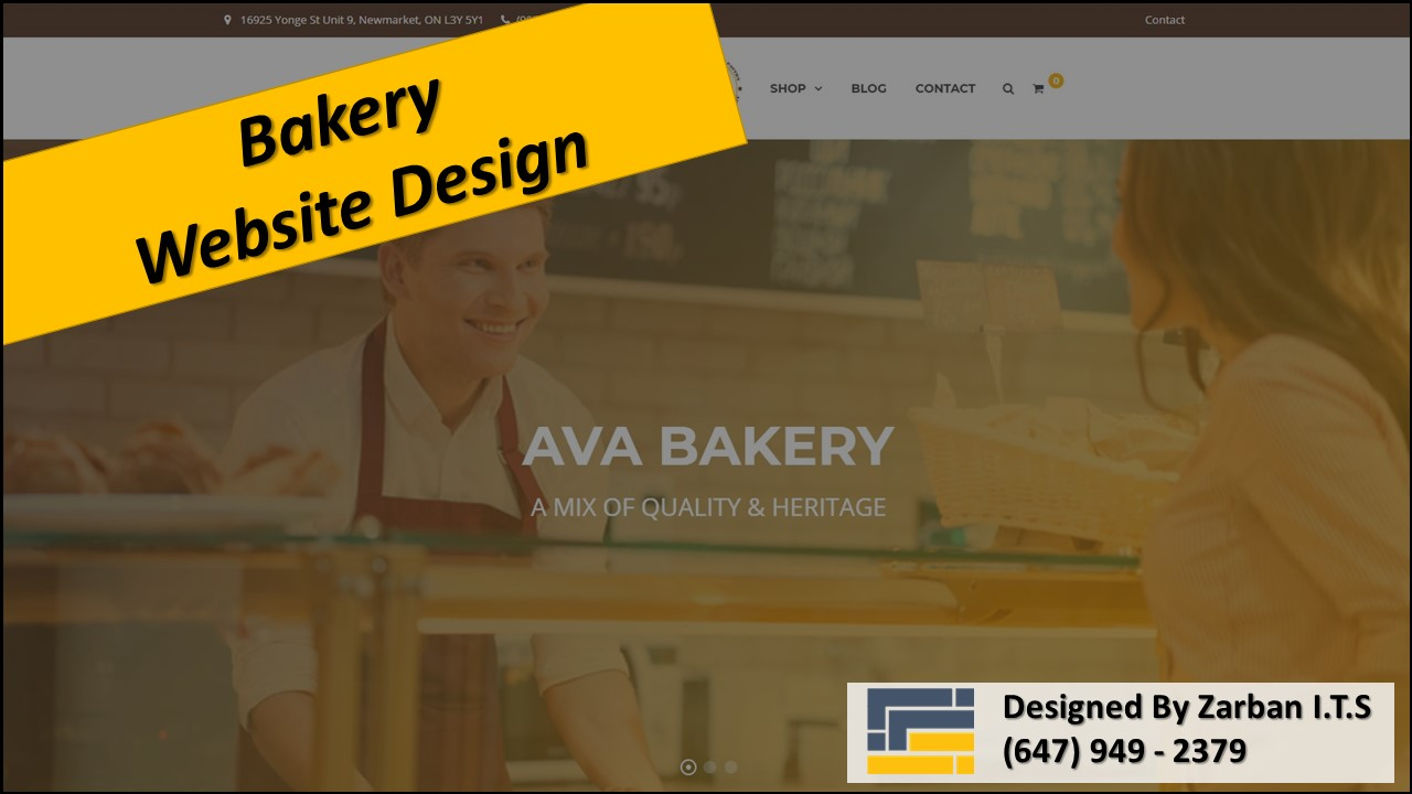 Vaughan Web Design for Bakery