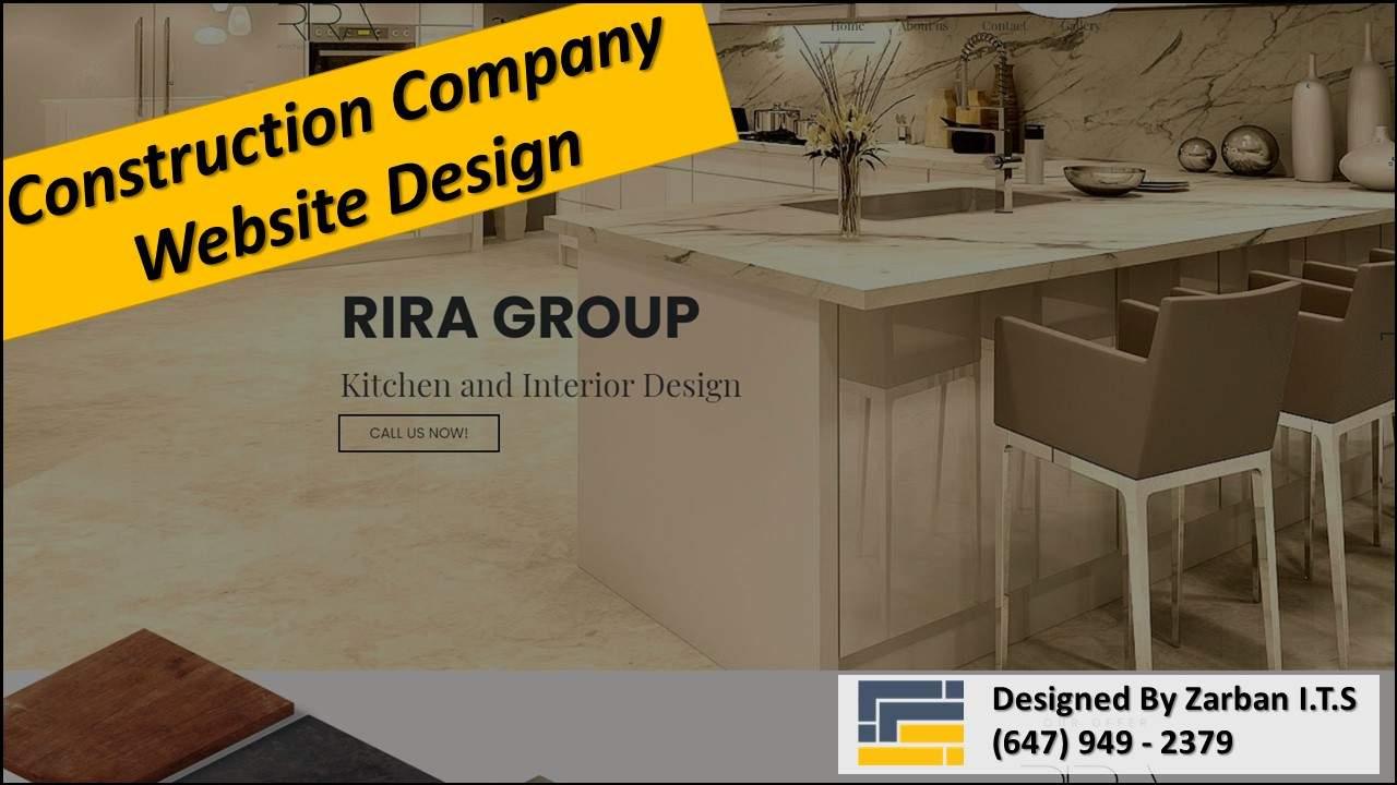طراحی سایت برای شرکت ساختمانی در تورنتو