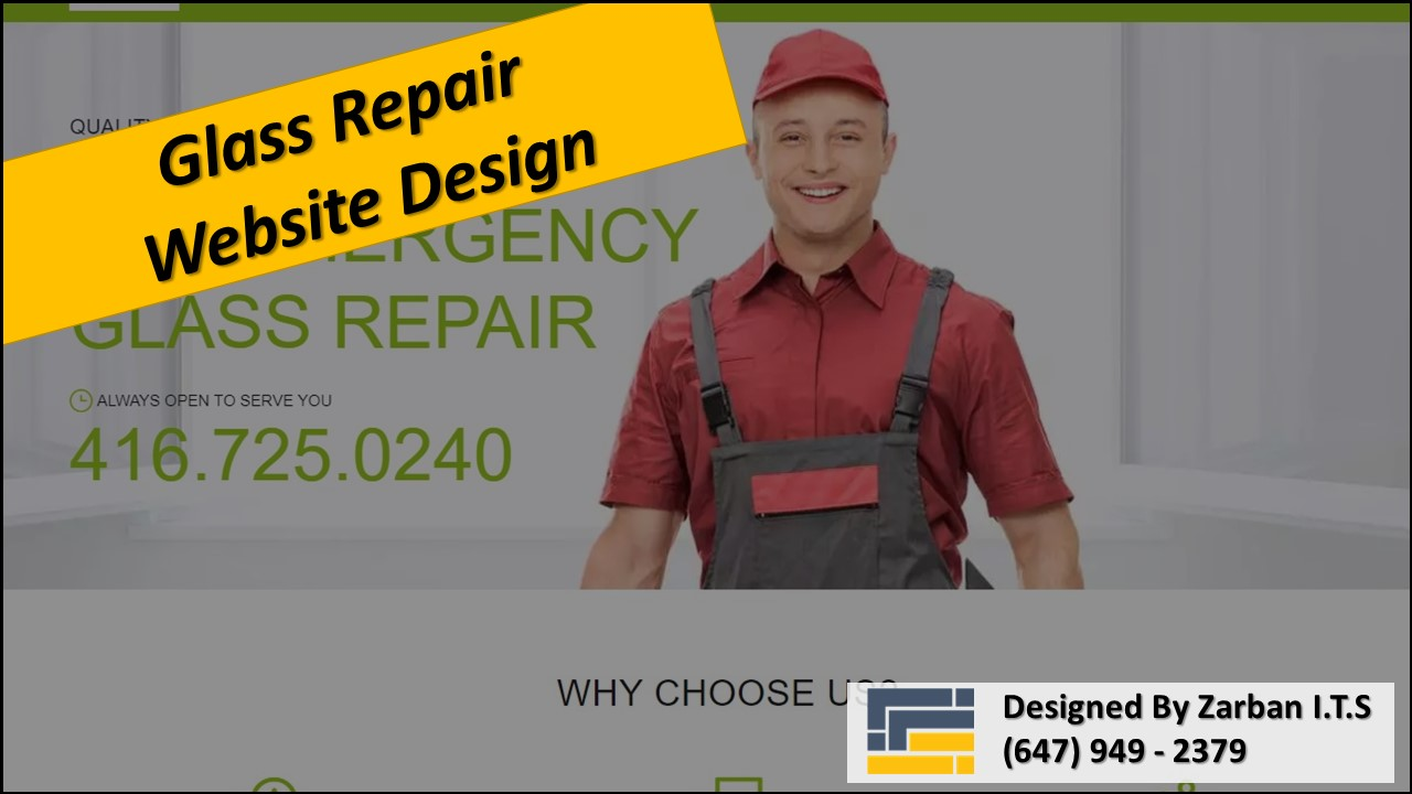 Vaughan Web Design for Glass Repair