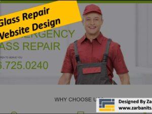 Glass Repair Website Design Scarborough