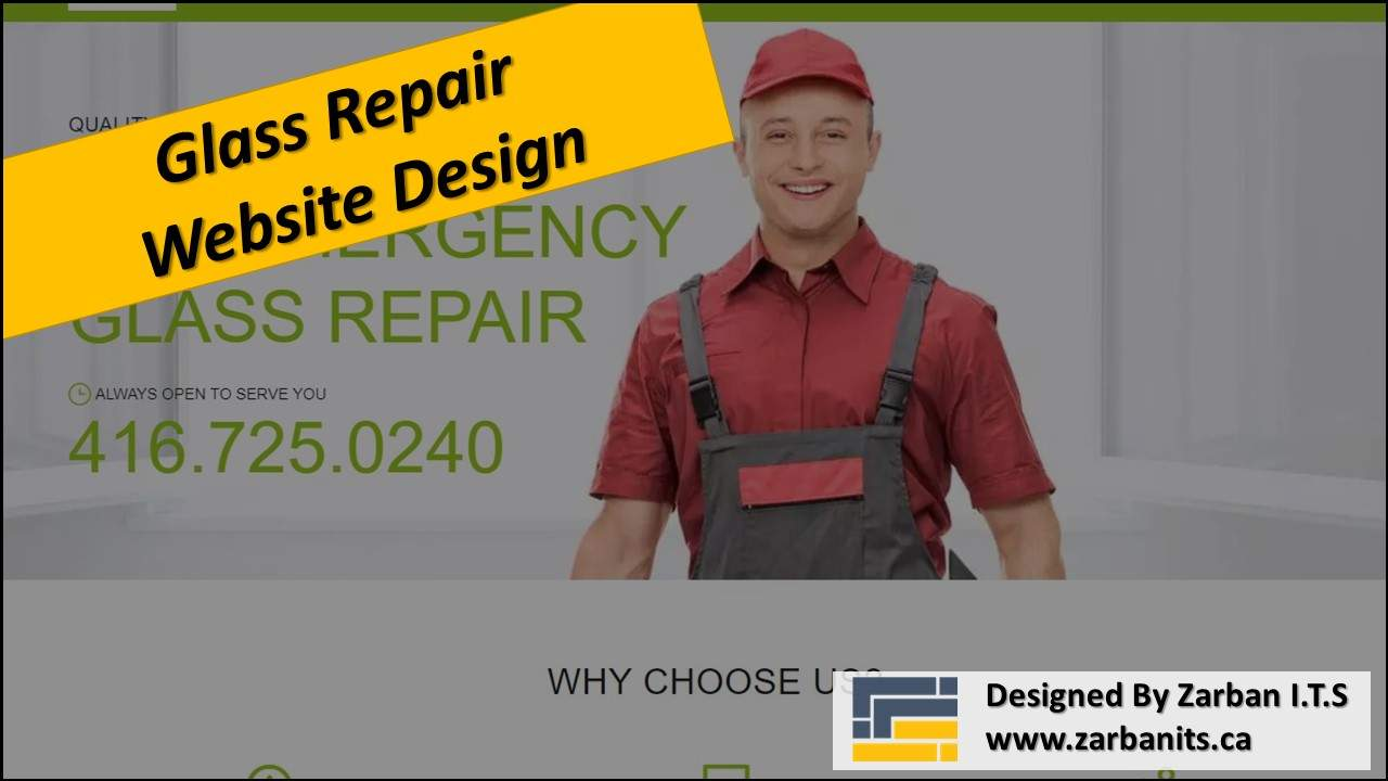 Glass Repair Website Design Scarborough