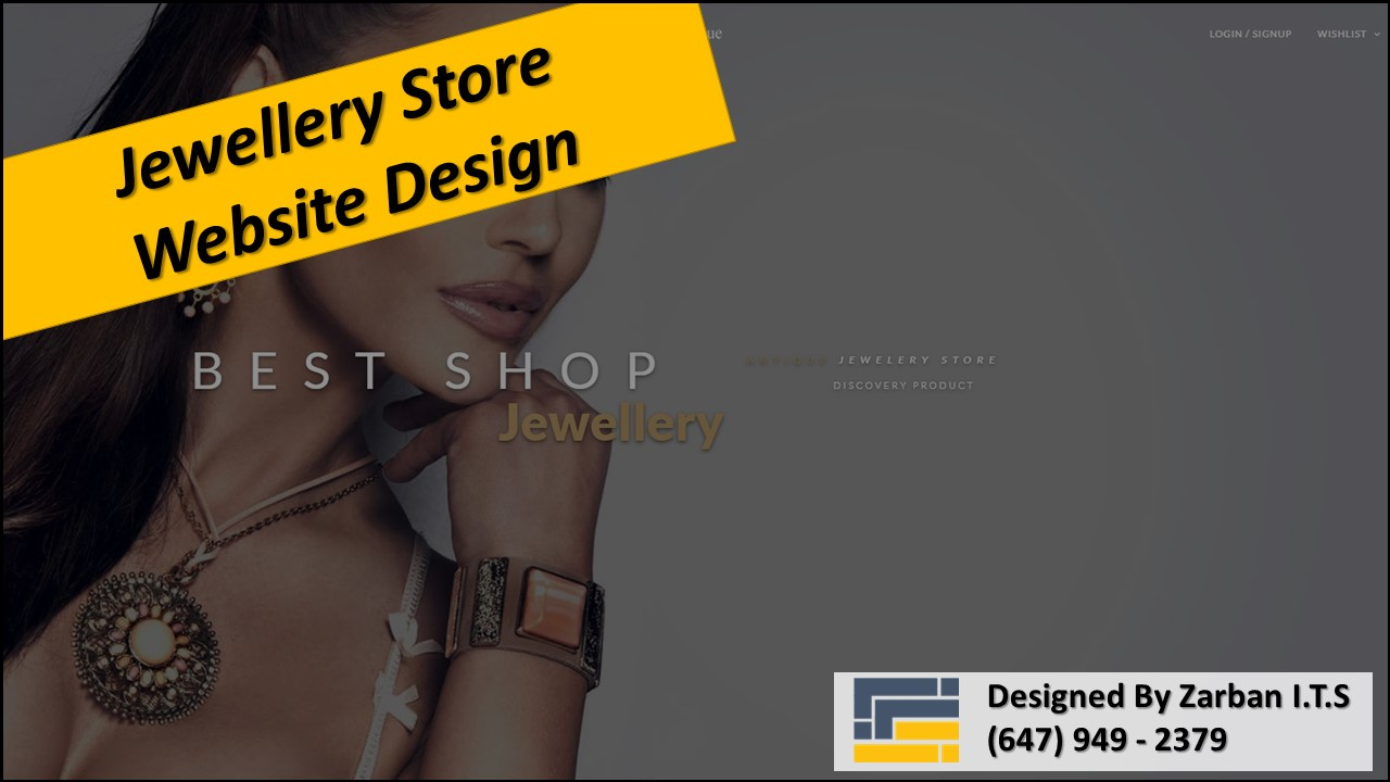 Vaughan Web Design for Jewelry Store