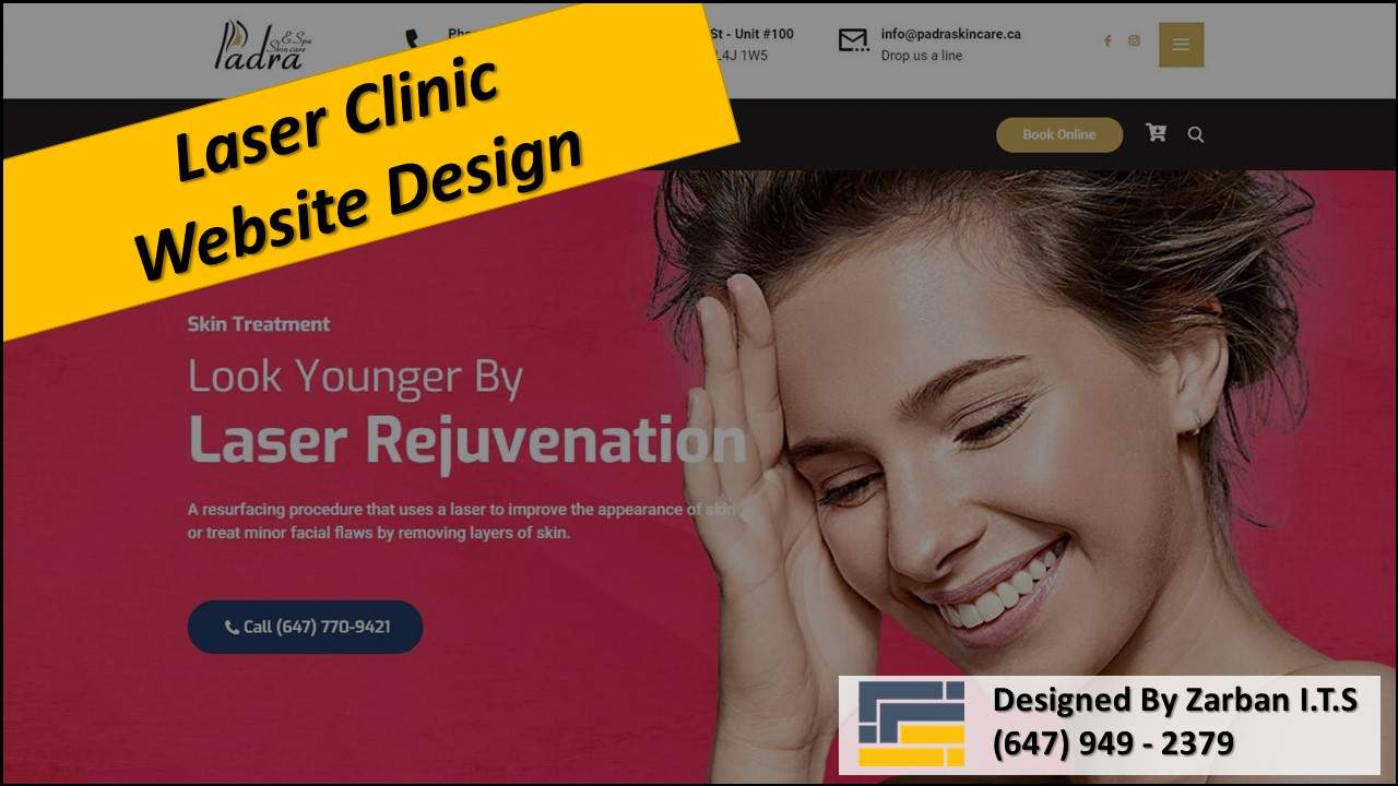 Vaughan Web Design for Laser Clinic