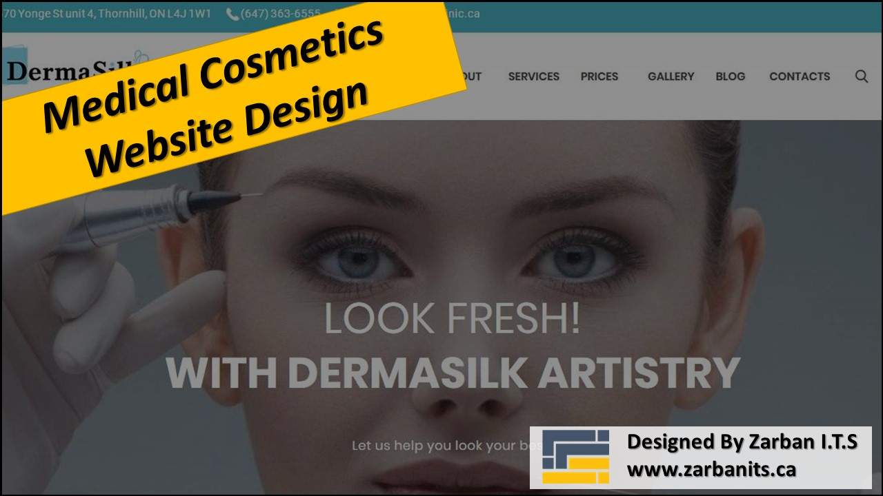 Medical Cosmetics Website Design Richmond Hill