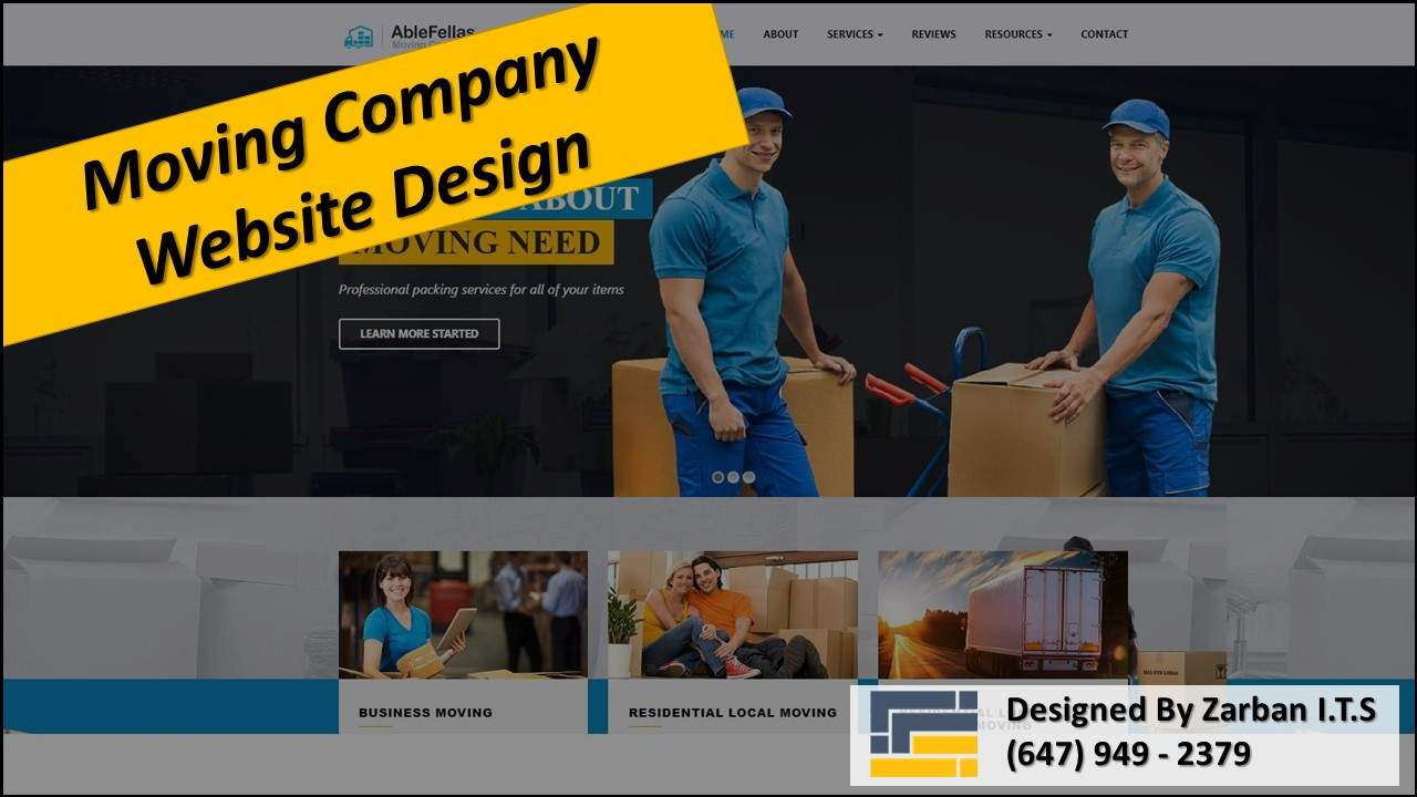 Richmond Hill Web Design for Moving Company
