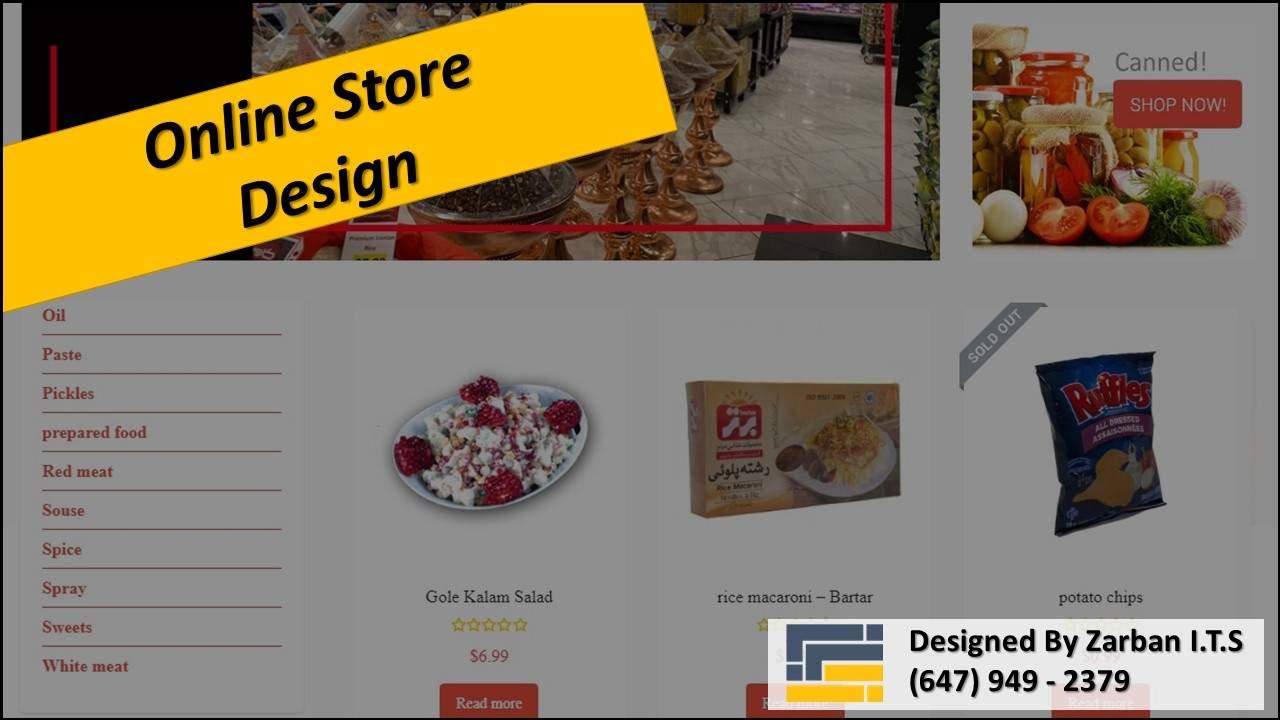 طراحی فروشگاه آنلاین برای سوپرمارکت در تورنتو
