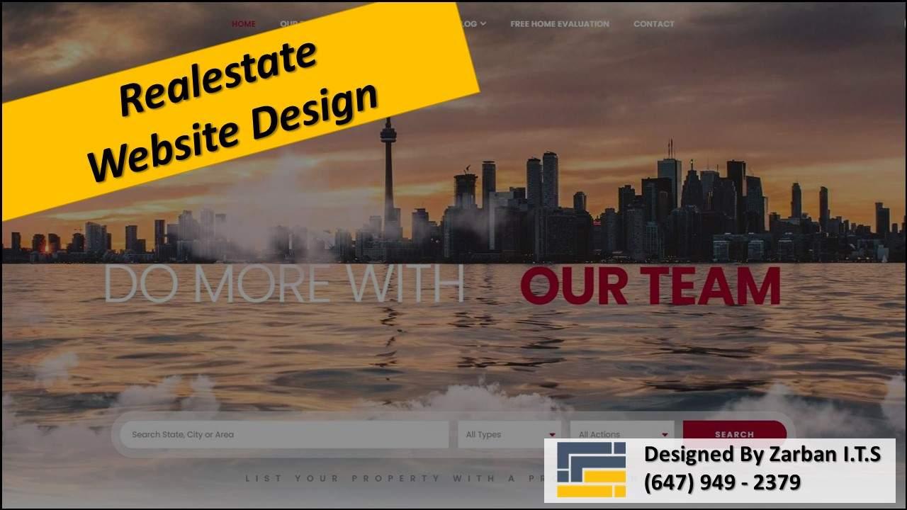 طراحی سایت مشاوران املاک در تورنتو