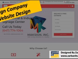 Sign Company Website Design Richmond Hill