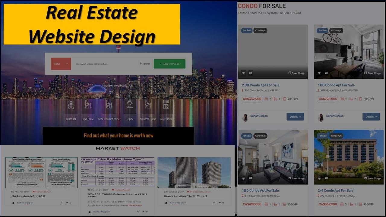 Real Estate Website Design in Markham